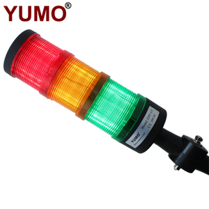 STP7-3-F 24VDC Folded Type 3 Layers Steady Light Flash Light Warning Light without Buzzer