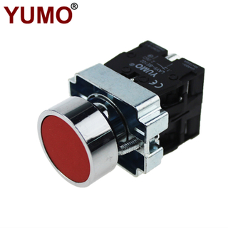 LAY5-BA45 Red Metal Switch NO+NC Industrial Momentary Spring Return Push Button