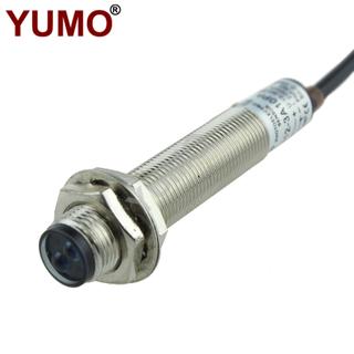 YUMO G12-3A10PA 10cm PNP NO M12 Metal Housing Photoelectric Sensor Photo Switch