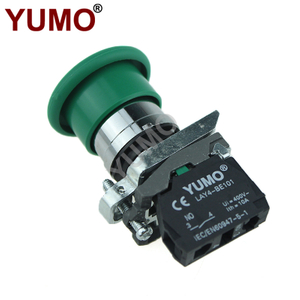 Green Mushroom Cap Push To Exit Button Switch 1NO 1NC DPST Emergency Stop Push Button Switch
