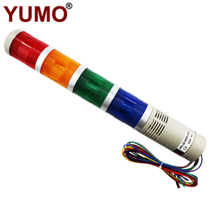 STP5 AC230V 4 layer flashing LED tower light with buzzer